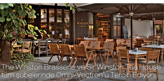 SIR WINSTON TEA HOUSE  OMNİ-VECTRON'U TERCİH EDİYOR…