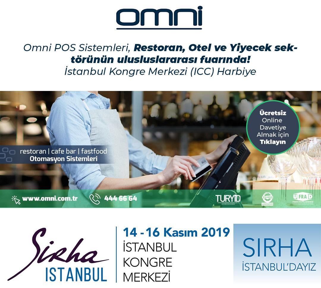 Omni POS Sistemleri, Restoran, Otel ve Yiyecek Sektörünün uluslarası fuarında!