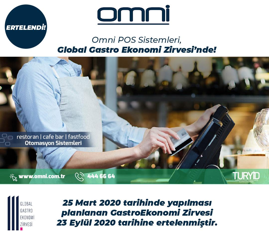 Global Gastro Ekonomi Zirvesi 23 Eylül 2020 Çarşamba gününe ertelendi!